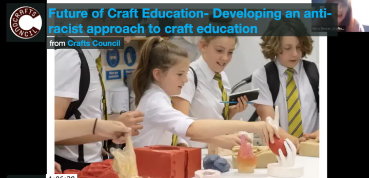 Crafts Council Event- Anti Racist Approaches to Craft (and art) Education